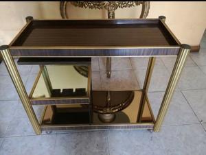 Mesa de servicio, mini cantina de aluminio