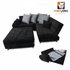 Sala en esquina Tisanna sofa cama diseños vanguardistas