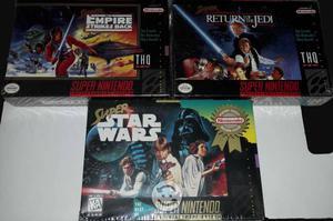 Super Star Wars Trilogía (snes) Sellados
