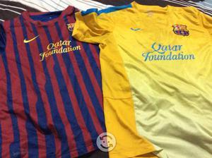 2 playeras del fc barcelona negociable