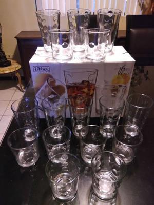 Juego de Vasos de Vidrio 16 piezas