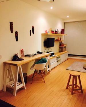 Mueble de tv y escritorio