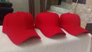 cachuchas en caja de 24 piezas color rojo
