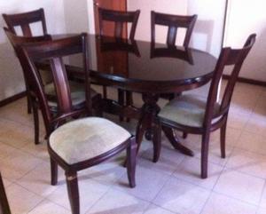 Comedor 6 sillas choco cedro nuevo precio a tratar posot for Comedor 6 sillas precio