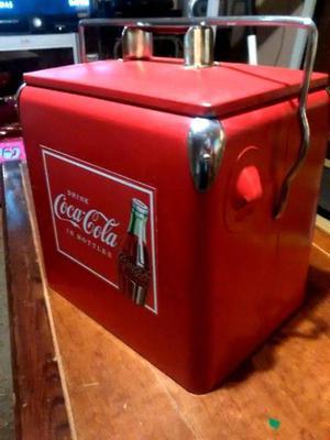 Hielera metalica coca cola coleccion de los 50s