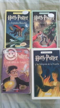 Libros de Harry Potter 1, 2, 4 y 7