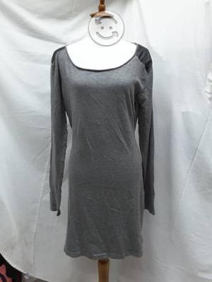 Vestido gris tela de punto