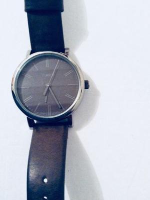 Reloj UNISEX Correa piel GRIS TIMEX