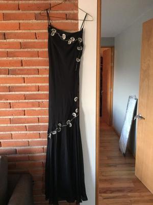 Vestido de Noche Largo color Negro talla 7