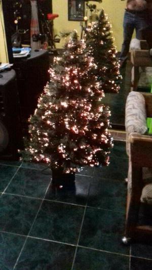 Árbol de Navidad con fibra óptica que cambia de colores