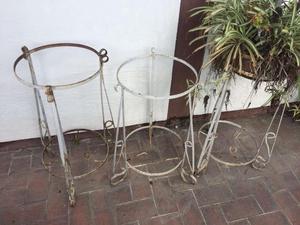 Bases de herrer a para mesas posot class - Pedestales para macetas ...
