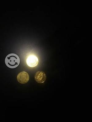 Lentes antiguos armason de oro y monedas de oro