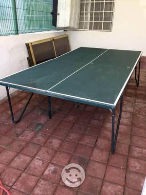 Cambio mesa de ping pong seminueva plegable posot class for Mesa de ping pong usada
