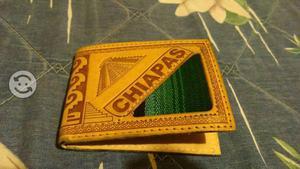 Cartera artesanal de Chiapas