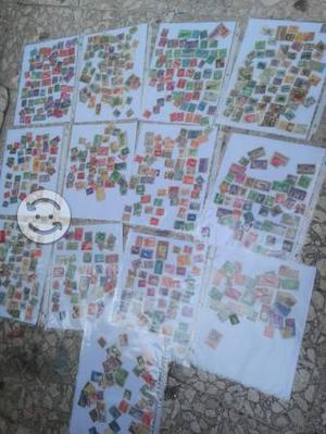 Timbres postales antiguos varios países
