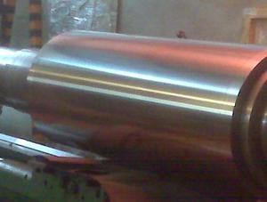 Rodillos metalizados en cromo duro industrial