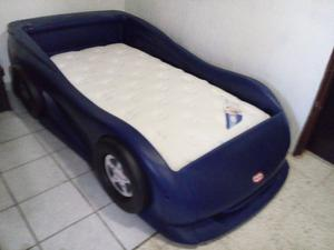 cama carro little tikes con colchon