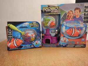 Pecera con robo pez