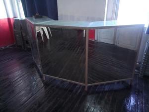 muebles recepción mostrador de espejos