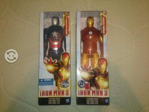 2 figuras iron man nuevas en caja original hasbro
