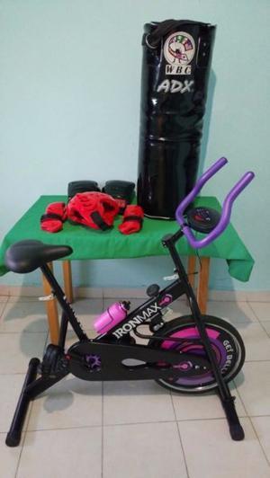 ¡PROMOCIÓN! Bicicleta Estática Más Costal de Boxeo