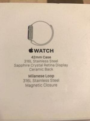 Apple Watch 42 mm acero inoxidable series 1