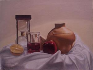 Pinturas al óleo y dibujos en carboncillo