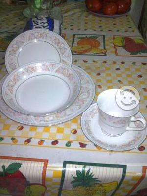 Juego de t de porcelana fina china antigua posot class - Vajilla de porcelana ...