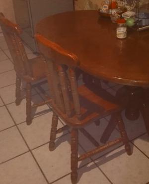 comedor con 5 sillas usado