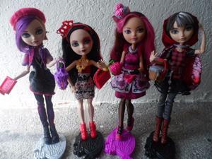 4 Muñecas originales Mattel Ever After High