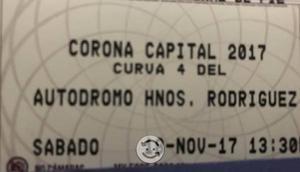 Boletos individual Corona Capital 18 o19