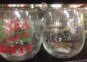 Vasos de cristal navideños