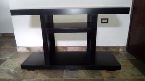 Bonito mueble para TV color chocolate alto