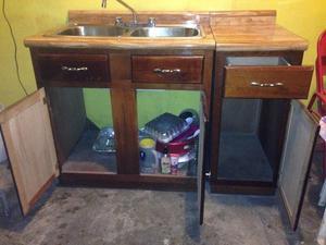 Mueble para cocina con tarja y llave mezcladora posot class for Mueble para tarja