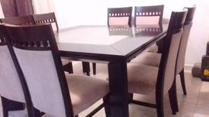 comedor 8 sillas madera