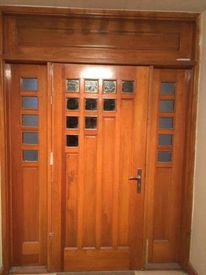 Fijo para puerta de madera fina con vitral posot class for Madera maple