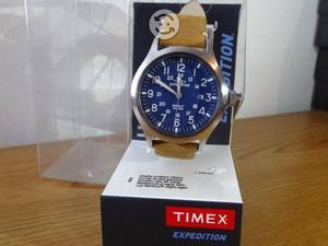 Reloj timex expedition correa de piel,fecha,carat,