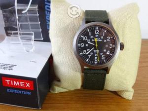 Reloj timex expedition verde militar,fecha,caja,ne