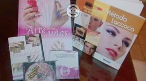 Se vende cd's y libros de colocación uñas