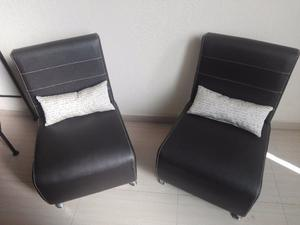 Juego de 2 sillones individuales casi nuevos