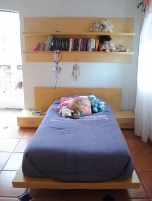 Recámara Individual Seminueva, Madera De Pino