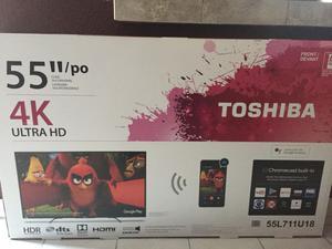 "TOSHIBA SMART TV 55"" 4K ULTRA HD CHROMECAST"