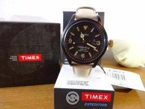 Timex waterbury,nuevo,fechador,luz,correa beige