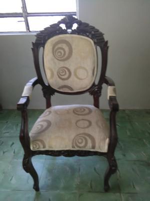 6 sillas de caoba estilo luis xv