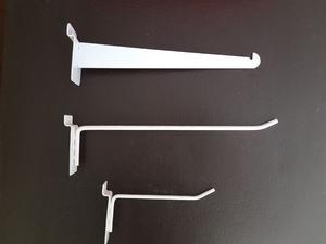Blister tipo cascadas ganchos mensulas panel posot class for Ganchos de plastico