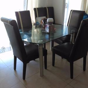 Mesa de comedor para 4 y6 sillas