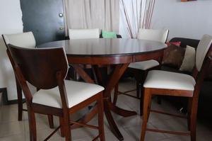 Mesa alta tipo antecomedor o tipo bar marca Jofran Furniture