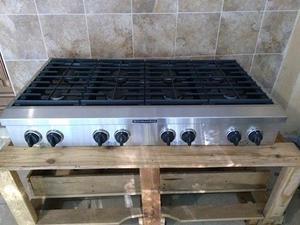 Estufa de gas empotrable kitchen de 8 quemadores