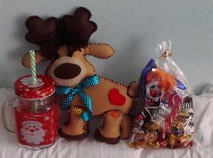 Bolos navideños con muñecos de fieltro