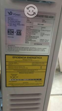 Calentador de agua, es boiler de gas LP ecológico